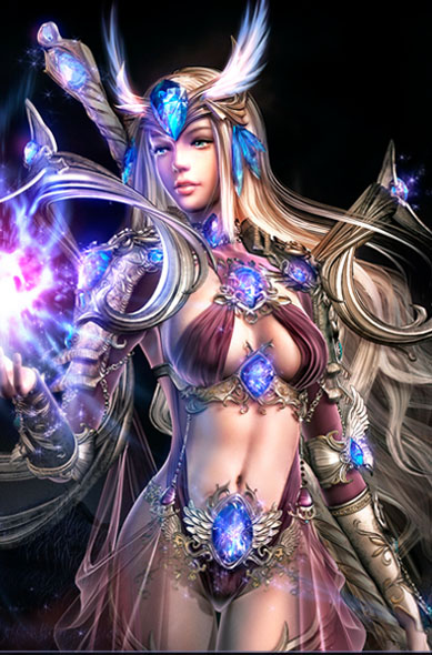 240x320 воин, девушка, свечение, фэнтези, волосы, магия, игра, Soul of the ultimate nation картинки на рабочий стол 11285